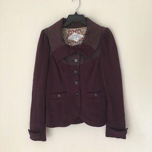 Free People | Vintage Eggplant Purple Jacket Sz 8